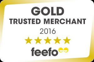 Feefo Gold Trusted Merchant 2016